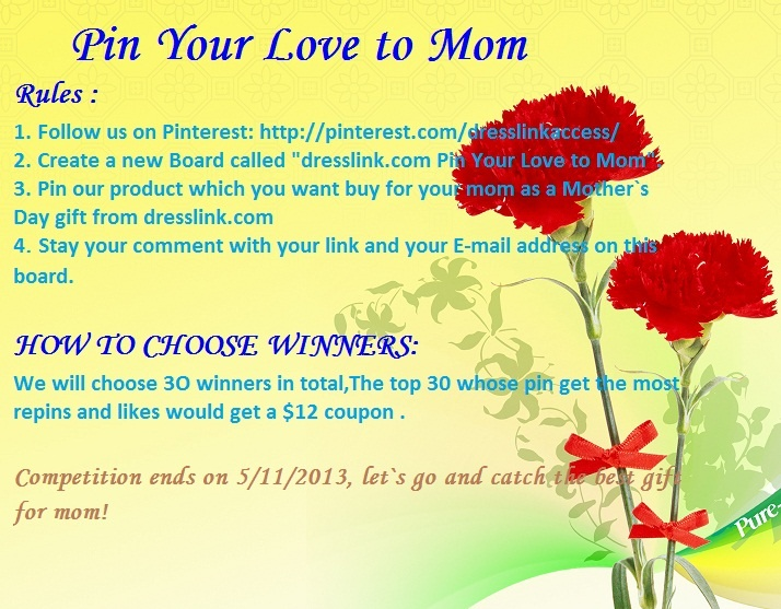 We will choose 30 winners in total,The top 30 whose pin get the most repins and likes would get a $ 12 Vouchers . $360