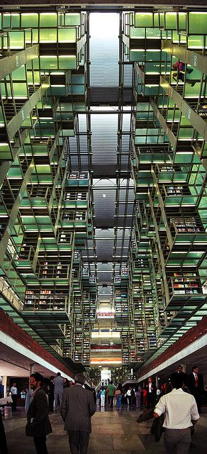Biblioteca Vasconcelos, Ciudad de Mexico DF, the largest library in Latin America by Mexican architect Alberto Kalach