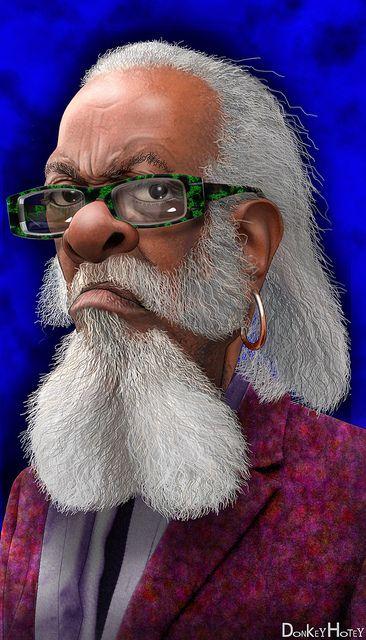 Jimmy McMillan - Caricature by DonkeyHotey, via Flickr