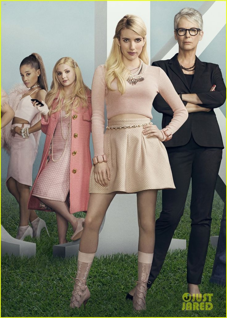 Ariana Grande, Abigail Breslin, Emma Roberts and Jamie Lee Curtis from Scream Queens