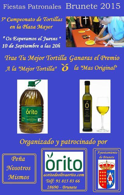 """5º Campeonato de #Tortilla #Española en #Brunete patrocinado por #Aceites de Oliva Virgen Extra """"Orito"""""""