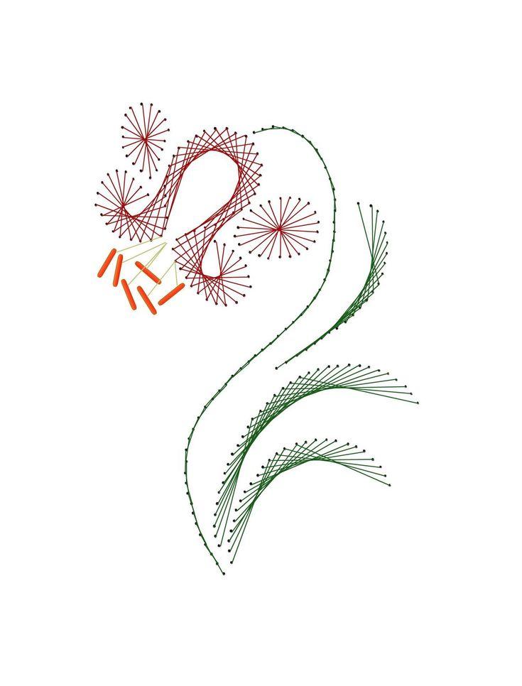 Изонить схемы цветов для открытки, открытка