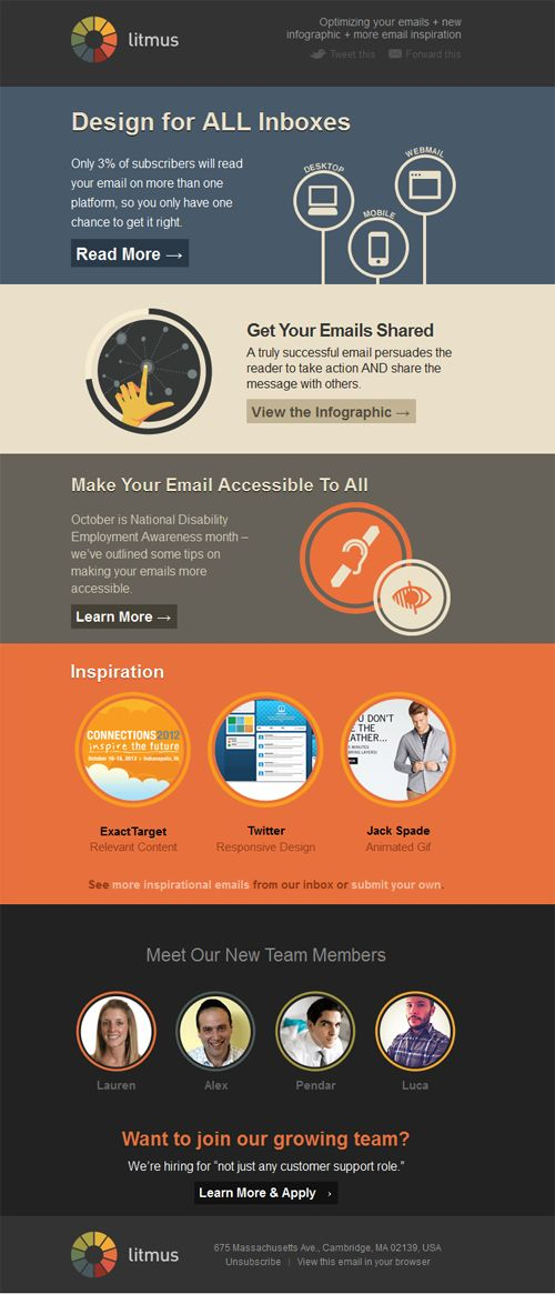 Beautiful Email Newsletters » Blog Archive » Litmus