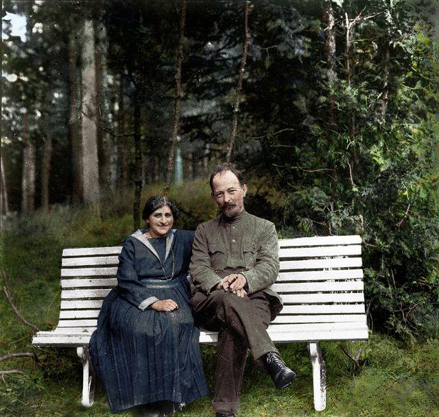 Felix Dzerzhinsky with his wife Zofia Muszkat near Moscow, 1923 - Olga