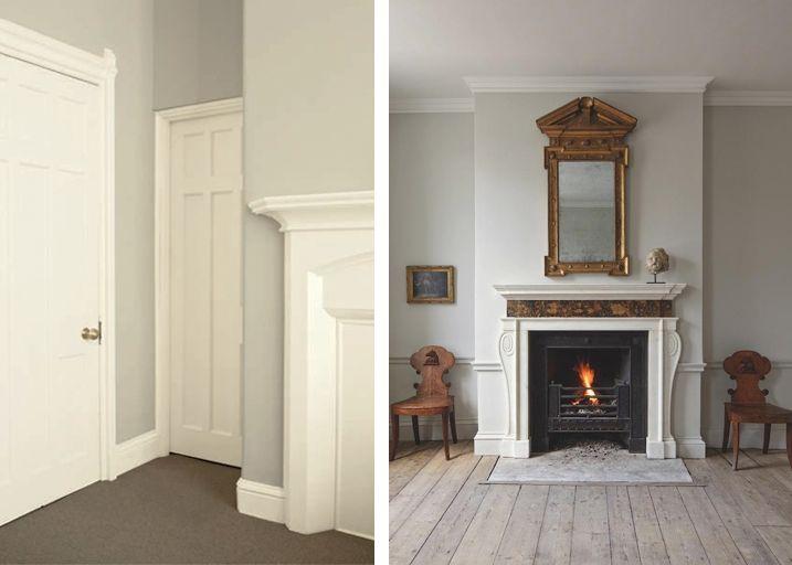 Gray walls white trim home interiors pinterest for Grey walls white trim
