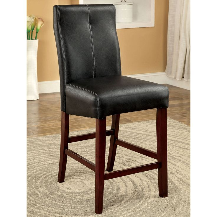 Furniture Of America Audrey Contemporary Leatherette Counter Height Chair Set Of 2 Overstock