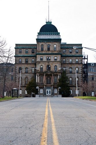 Old Greystone Park Psychiatric Hospital, Morristown, NJ. I've been inside and met some of the patients. It was a creepy place and it smelled funny.