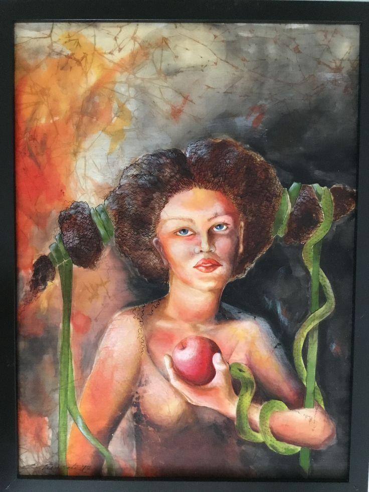 Artist:Gunseli Toker. Textile art. Silk color on silk. www.gunselitoker.com