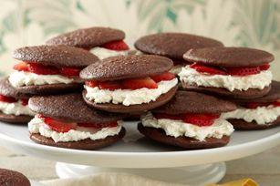 Chocolate-Strawberry Shortcake Whoopie Pies