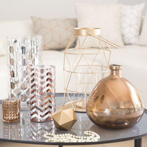 Lanterne en métal cuivré HYDE PARK   Maisons du Monde