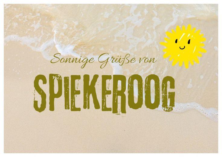 Sonnige Grüße von Spiekeroog | Urlaubsgrüße | Echte Postkarten online versenden | MyPostcard.com
