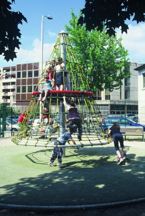 The Redwood Tree is a carousel that moves and sways. This German made product has a great height factor to benefit the more adventurous youths #RotatingTowers #PlaygroundCentre #PlaySpace #Playground #Fun #Play #RedwoodTree