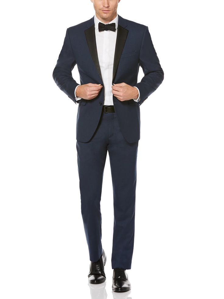 Perry Ellis Slim Fit Blue Tuxedo Jacket #tuxedo #ad #mensfashion #menswear #style