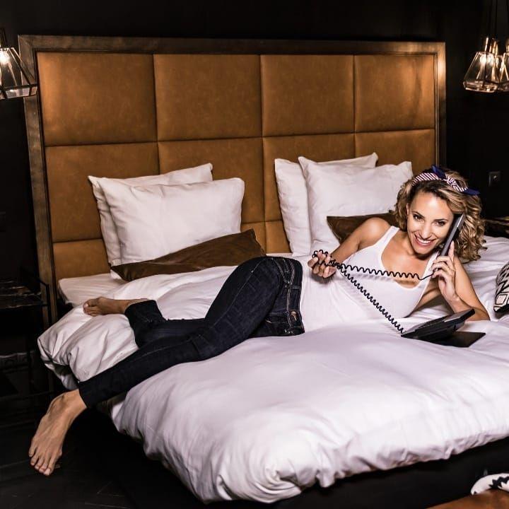 De City Suite Hotel Reehorst Ede Cognac Skai Vakken En Houten Lijst Hoofdbordenwinkel