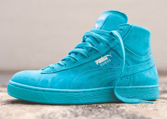 high top suede pumas