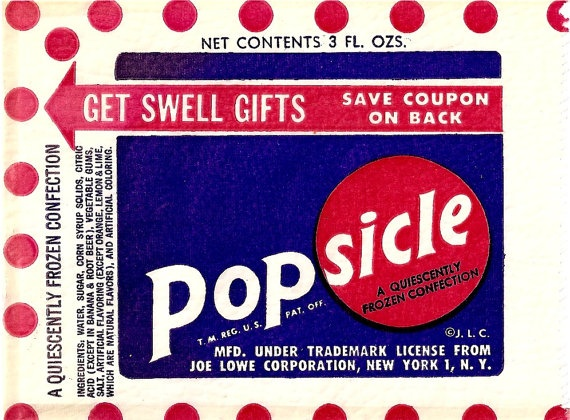 Vintage Popsicle Wrappers