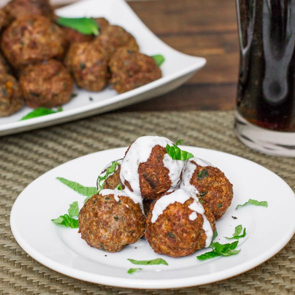 Delicious Lebanese Lamb Meatballs that are baked!! These baked Lebanese lamb meatballs are the perfect appetizer for the Lamb lover in your life.