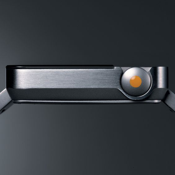 Watch, metal, orange: