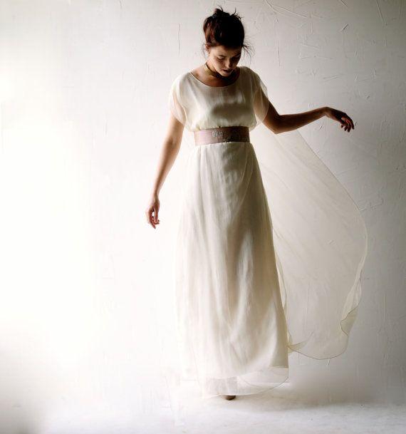 Wedding dress Boho wedding dress hippie wedding by larimeloom