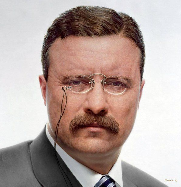 Theodore Roosevelt (27/10/1858 - 6/1/1919) was the 26th President of the United States (14/9/1901 - 4/3/1909)