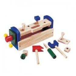 ♡Nic Gereedschapskist♡  Gereedschapskist die gemakkelijk om te toveren is tot werkbank. In totaal zijn het 14 onderdelen. De afmetigen zijn 30x20x12. Dit speelgoed is bedoeld voor kinderen vanaf 3 jaar. ~Nic~