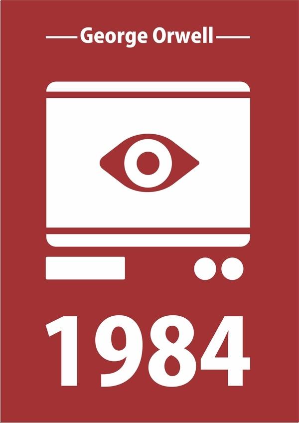 1984 -  George Orwell by Cristiano Lima, via Behance