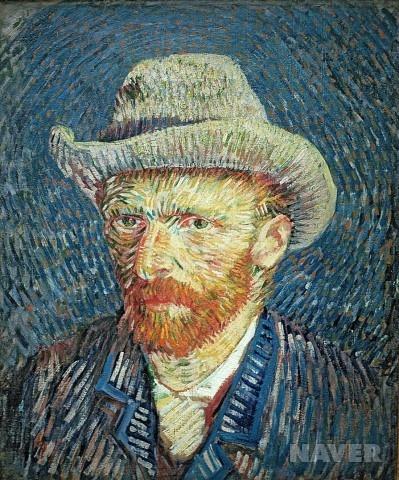 펠트 모자를 쓴 자화상 (Self Portrait with Felt Hat)  빈센트 반 고흐(Vincent Van Gogh)        후기인상주의  / 1887년 / 유화 / 캔버스에 유채 / 44 x 37.5 cm / 반 고흐 미술관 소장