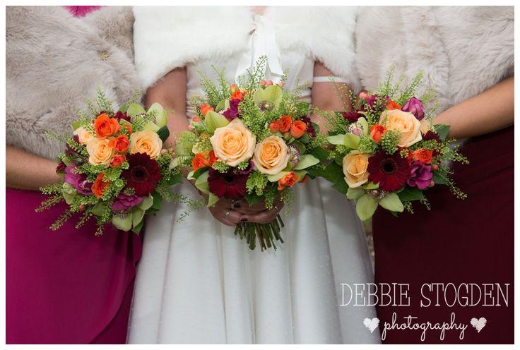 Bridal Bouquets in #autumn #wedding #flowers by flowerhouse, Hartburn