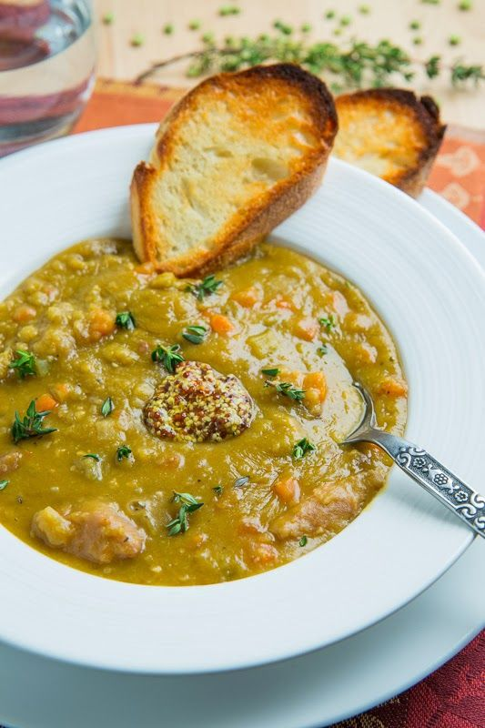 Split Pea Soup. Here's a tip, save this soup for after a 'ham' ho...