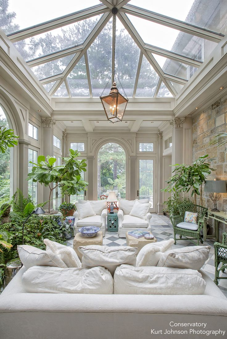 16 Fabulous Earth Tones Living Room Designs: The Conservatory, Kurt Johnson Photography