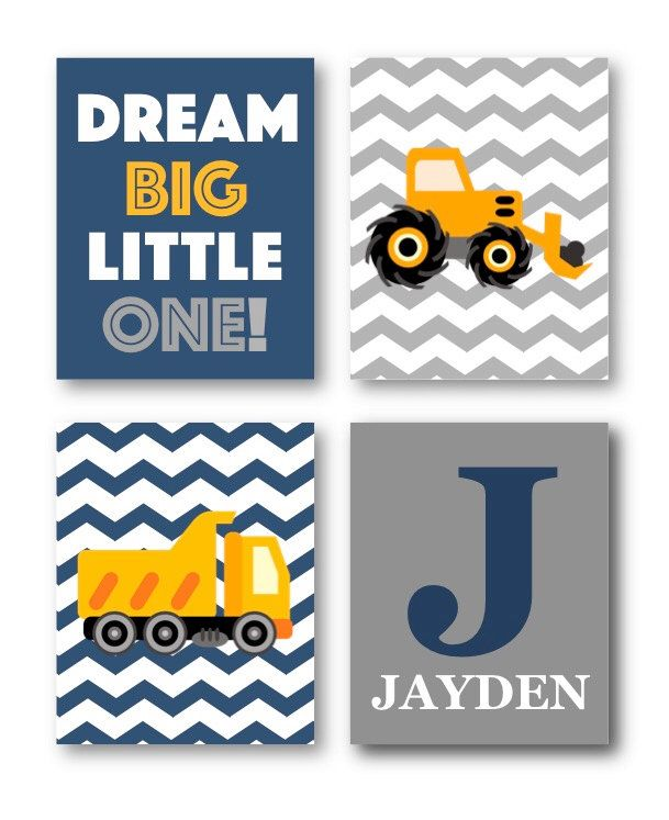 A personal favorite from my Etsy shop https://www.etsy.com/listing/264375336/construction-nursery-decor-construction
