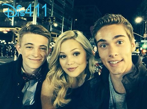 Olivia Holt with Dylan Riley Snyder and Austin North at the 2013 Hollywood Christmas Parade