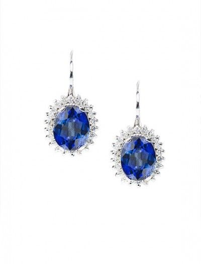 18ct Tanzanite & Diamond Earrings - Available at Onyx Goldsmiths