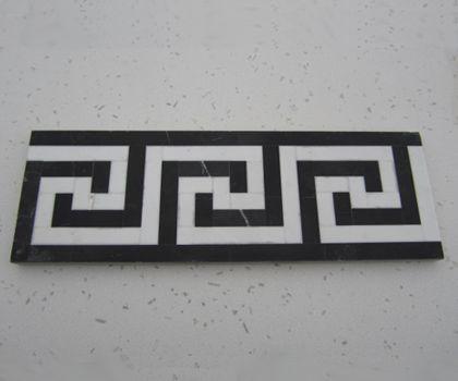 Zwart-Wit marmeren sierlijsten van Het Marmerhuis