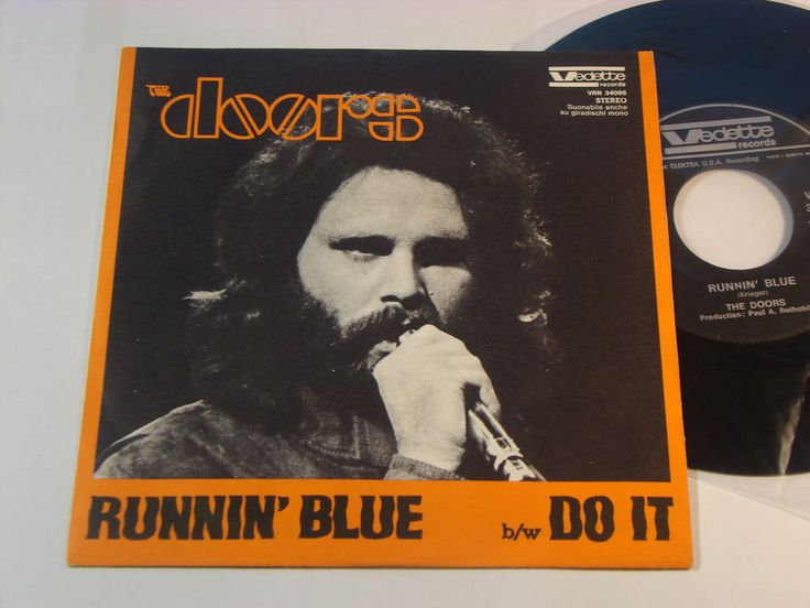The Doors Runnin Blue backed with Do It, Italian 1969 release #thedoors #single #vinyl