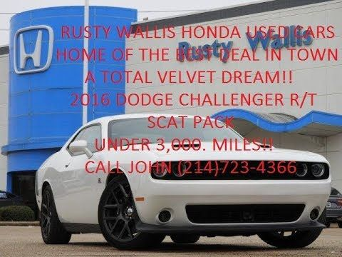 2016 Dodge Challenger R/T Scat Pack at Rusty Wallis Honda Used Cars (214...