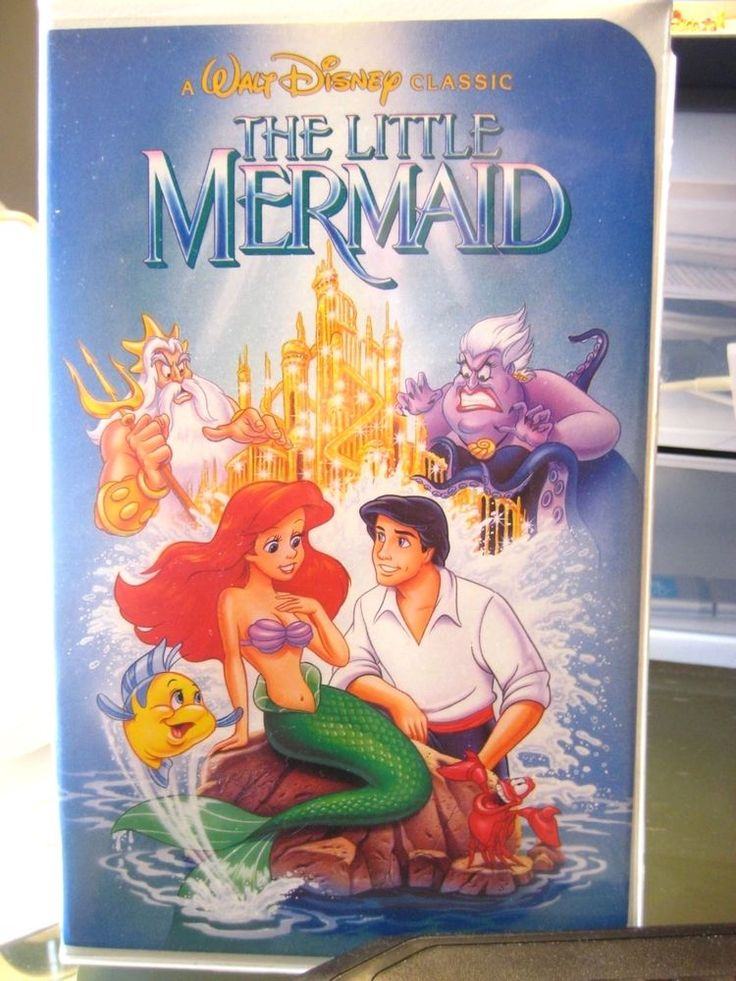 Apparently this original VHS Cover was a big deal... Oh my... Do you see what we see ?   The Little Mermaid - Disney Black Diamond Classic Banned Cover Art (VHS, 1990)