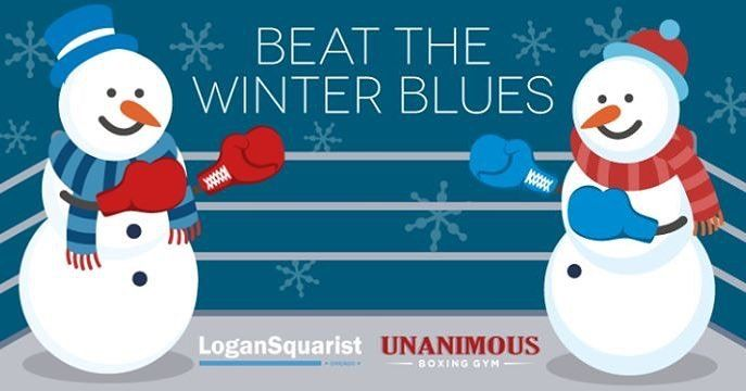 Join us for this really awesome event at @unanimousboxing on 2/18 (2pm-3:30pm) Get ready to work up a sweat for an hour at your local boxing gym and break up the winter days. Light snacks and water will be provided. For $5 plus tax you don't want to miss this! Class size is capped at 30 so get your tickets quick!