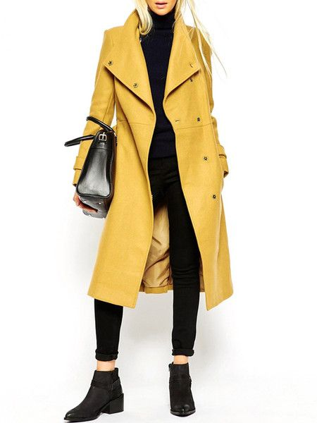 Vintage Yellow Trench Coat