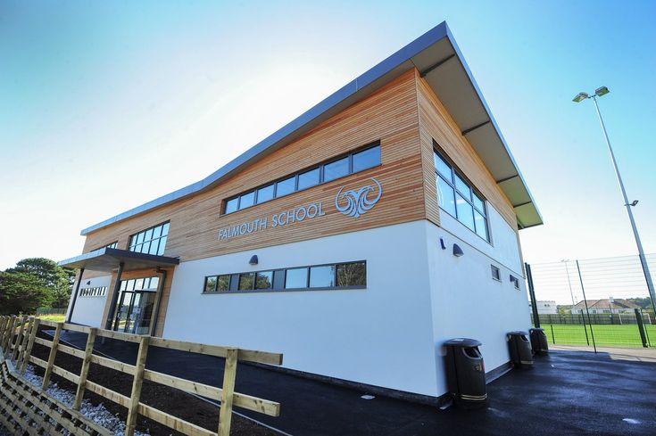 Falmouth School Sports Hub Building Signs Functional Training Gym School Sports