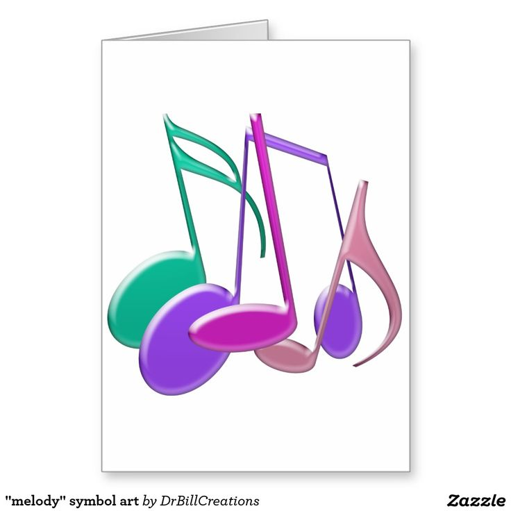 """""""melody"""" symbol art greeting card"""