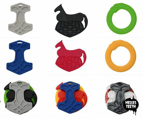 Teething for Odin viking teething toy set soft by HellesTeeth
