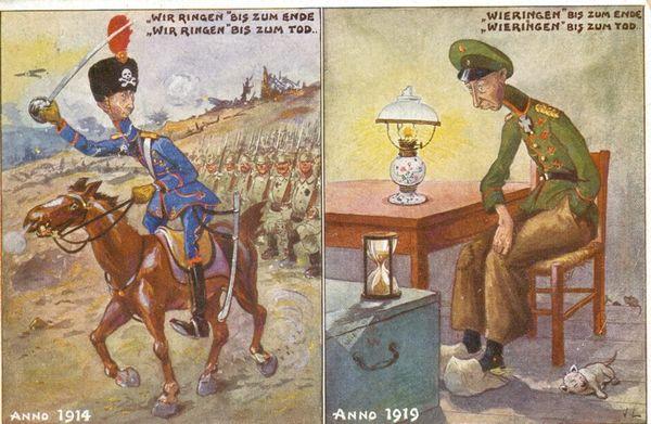 Spotprent en woordspel. Kroonprins Wilhelm van Pruisen ging van 1918 tot 1923 in ballingschap in het Nederlandse Wieringen. [E. Verschueren/PCCE - HA21.906.131.04]