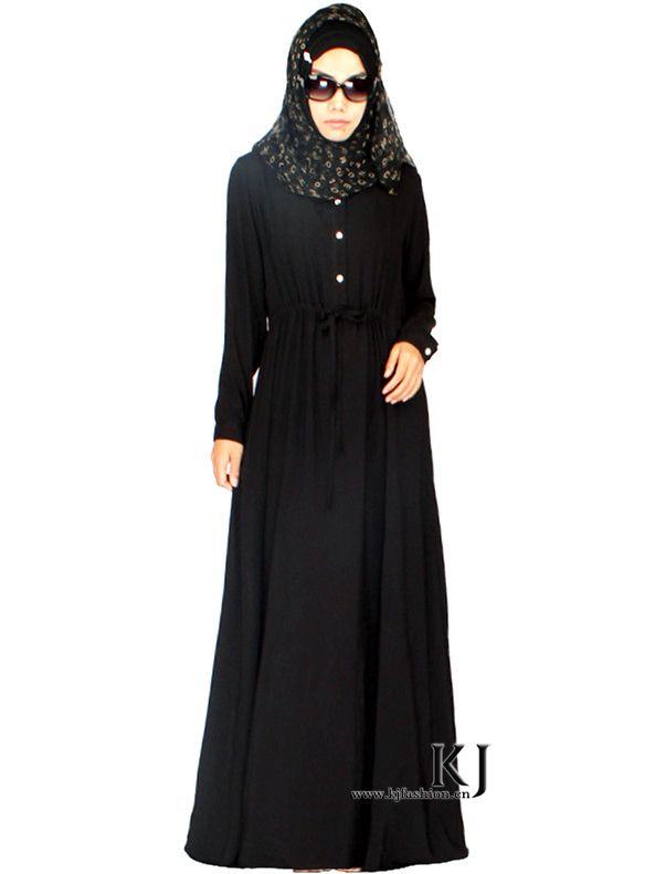 2015 New design traditional arabic clothing black abaya dress dubai long dress islamic clothing for women plus size(China (Mainland))