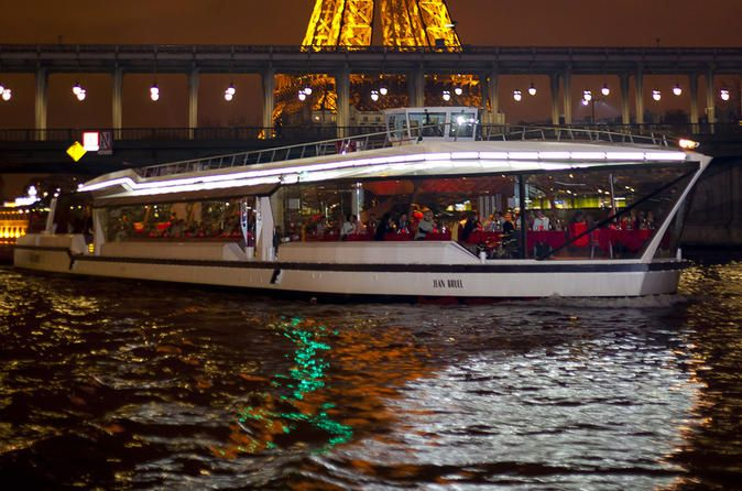 Compagnie des Bateaux-Mouches - Saint Valentine's Day Dinner Cruise Enjoy this 2hour and 15minute cruise on the River Seine, including a delicious dinner menu. See the enchanting city of romance all lit up in the evening.     Once you come to the designated meeting point, you can board the cruise ship and admire Paris from the river. You will also be able to enjoy a delicious dinner, a glass of champagne for the dessert and a gift.  Rela...