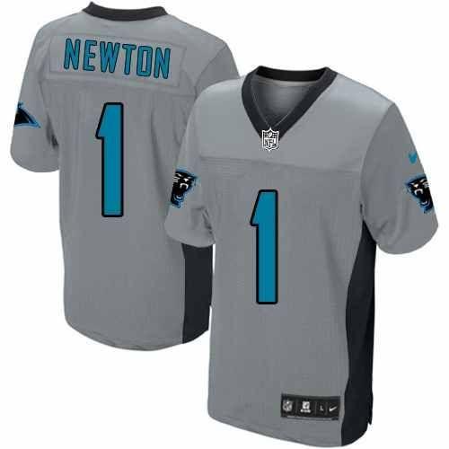 86aeba628 Nike Carolina Panthers #1 Cam Newton Lights Out Black Elite Jersey ...