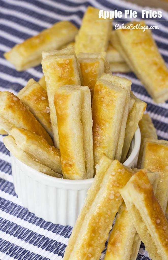 Apple Pie Fries Recipe   www.cakescottage.com   #recipes #apple #fries