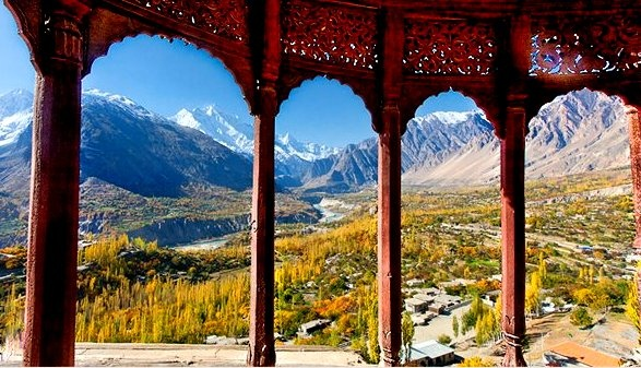 Such a #Beautiful view of Hunza Valley from Baltit Fort, Hunza, Pakistan. - #Amazing
