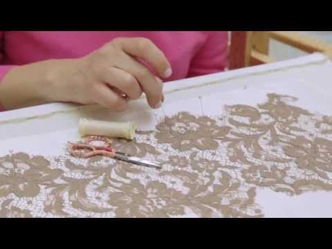 FASHION RULES TECHNIQUE: Lace appliqué - YouTube