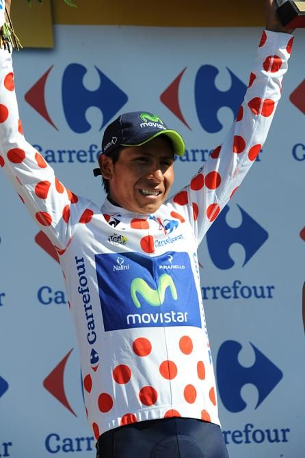 Nairo Quintana (Movistar) took a much deserved polka dot jersey